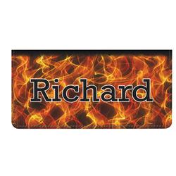 Fire Genuine Leather Checkbook Cover (Personalized)