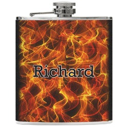Fire Genuine Leather Flask (Personalized)