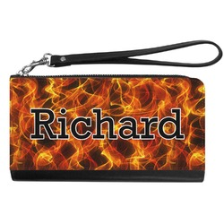 Fire Genuine Leather Smartphone Wrist Wallet (Personalized)