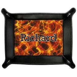 Fire Genuine Leather Valet Tray (Personalized)