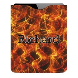 Fire Genuine Leather iPad Sleeve (Personalized)
