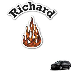 Fire Graphic Car Decal (Personalized)