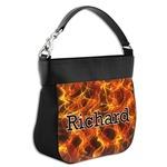 Fire Hobo Purse w/ Genuine Leather Trim (Personalized)