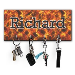 Fire Key Hanger w/ 4 Hooks (Personalized)