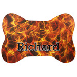 Fire Bone Shaped Dog Food Mat (Personalized)