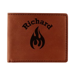 Fire Leatherette Bifold Wallet - Double Sided (Personalized)