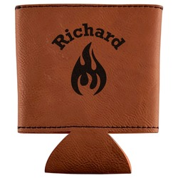 Fire Leatherette Can Sleeve (Personalized)