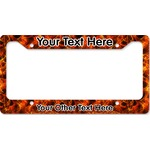 Fire License Plate Frame - Style B (Personalized)