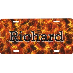 Fire Front License Plate (Personalized)