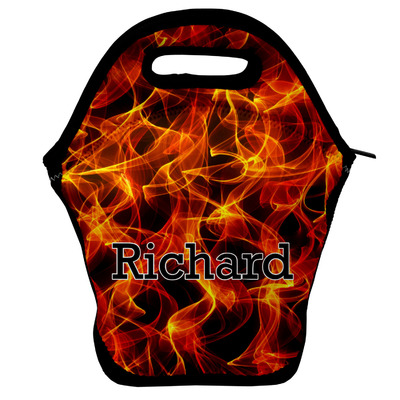 Fire Lunch Bag w/ Name or Text