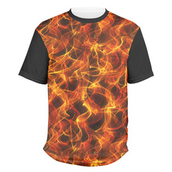 Fire Men's Crew T-Shirt (Personalized)