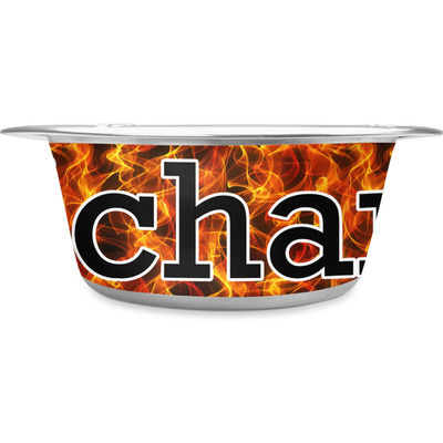 Fire Stainless Steel Dog Bowl (Personalized)