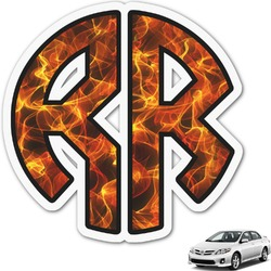 Fire Monogram Car Decal (Personalized)