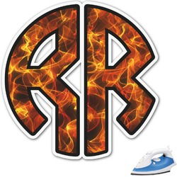 Fire Monogram Iron On Transfer (Personalized)
