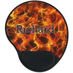 Fire Mouse Pad with Wrist Support
