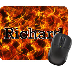 Fire Rectangular Mouse Pad (Personalized)