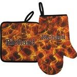 Fire Oven Mitt & Pot Holder (Personalized)