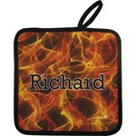 Fire Pot Holder w/ Name or Text