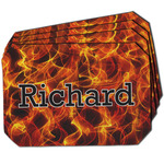 Fire Dining Table Mat - Octagon w/ Name or Text