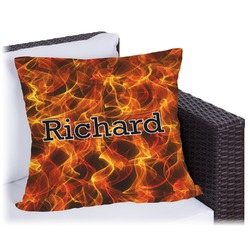 """Fire Outdoor Pillow - 16"""" (Personalized)"""