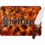 Fire Rectangular Glass Cutting Board (Personalized)