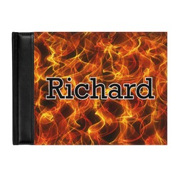 Fire Genuine Leather Guest Book (Personalized)