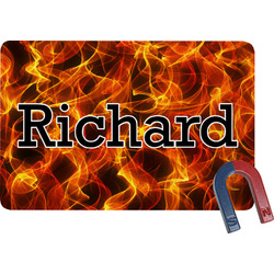 Fire Rectangular Fridge Magnet (Personalized)