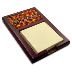 Fire Red Mahogany Sticky Note Holder (Personalized)
