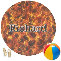 Fire Round Beach Towel (Personalized)
