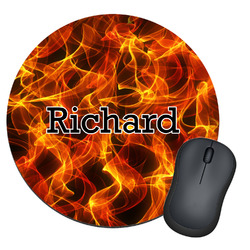 Fire Round Mouse Pad (Personalized)