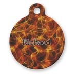Fire Round Pet Tag (Personalized)