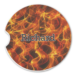 Fire Sandstone Car Coaster - Single (Personalized)