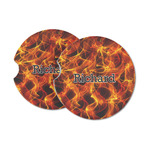Fire Sandstone Car Coasters (Personalized)