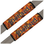 Fire Seat Belt Covers (Set of 2) (Personalized)