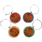 Fire Wine Charms (Set of 4) (Personalized)