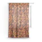 Fire Sheer Curtains (Personalized)