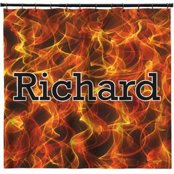 Fire Shower Curtain (Personalized)
