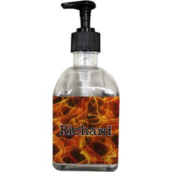Fire Soap/Lotion Dispenser (Glass) (Personalized)