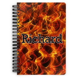 Fire Spiral Notebook (Personalized)