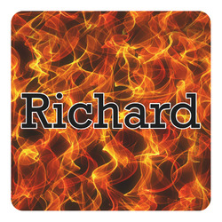 Fire Square Decal - Large (Personalized)