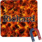 Fire Square Fridge Magnet (Personalized)