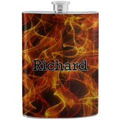 Fire Stainless Steel Flask (Personalized)