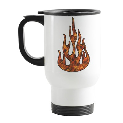 Fire Stainless Steel Travel Mug with Handle