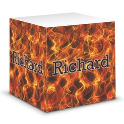 Fire Sticky Note Cube (Personalized)
