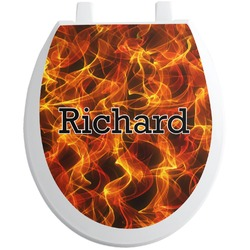 Fire Toilet Seat Decal (Personalized)
