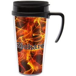 Fire Travel Mug with Handle (Personalized)
