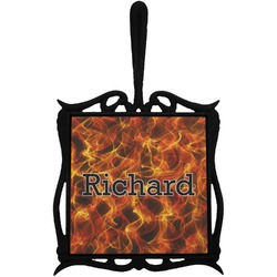Fire Trivet with Handle (Personalized)