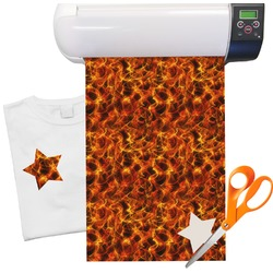 "Fire Heat Transfer Vinyl Sheet (12""x18"")"