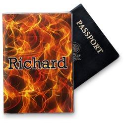 Fire Vinyl Passport Holder (Personalized)