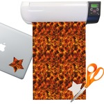 Fire Sticker Vinyl Sheet (Permanent)
